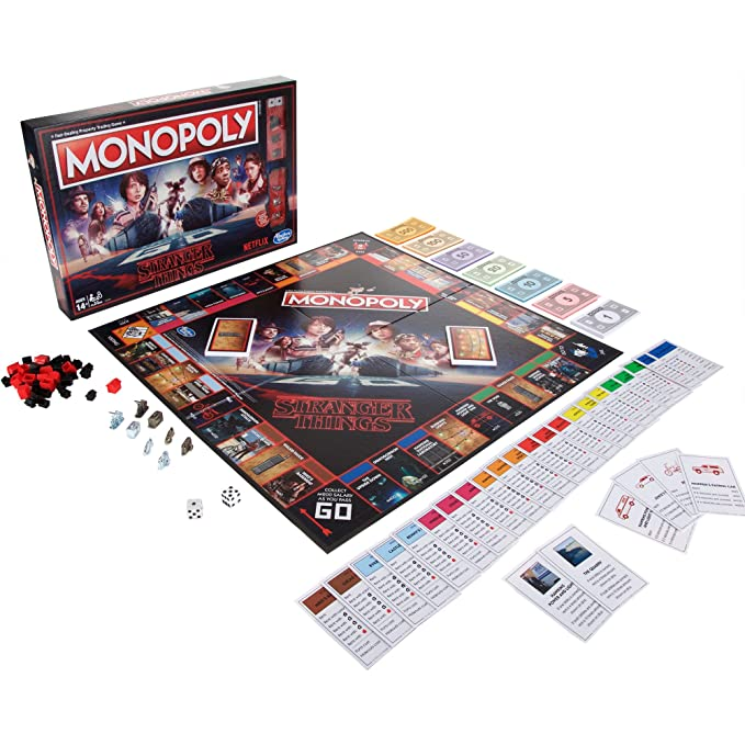 Amazon Com Monopoly Stranger Things Edition Toys Games