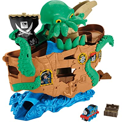 Thomas & Friends Fisher-Price Adventures, Sea Monster Pirate Set: Toys & Games