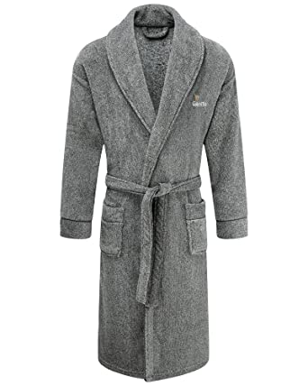 Cotton Traders Mens Guinness Dressing Gown Revere Soft Collar ...