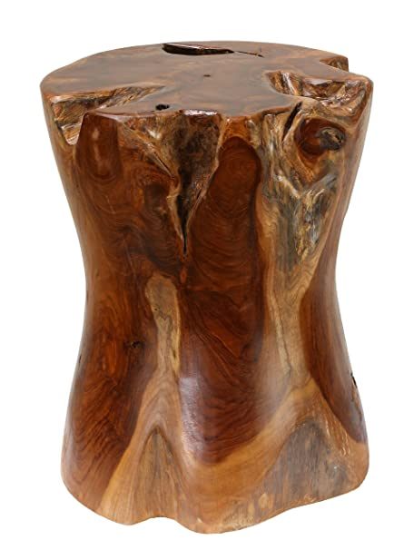 Amazoncom Bare Decor Hourglass Artisan Accent Solid Teak Wood Tree