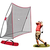 Nova Microdermabrasion Large 10x7ft Portable Golf Net Hitting Net Practice Driving Indoor Outdoor w/Carry Bag