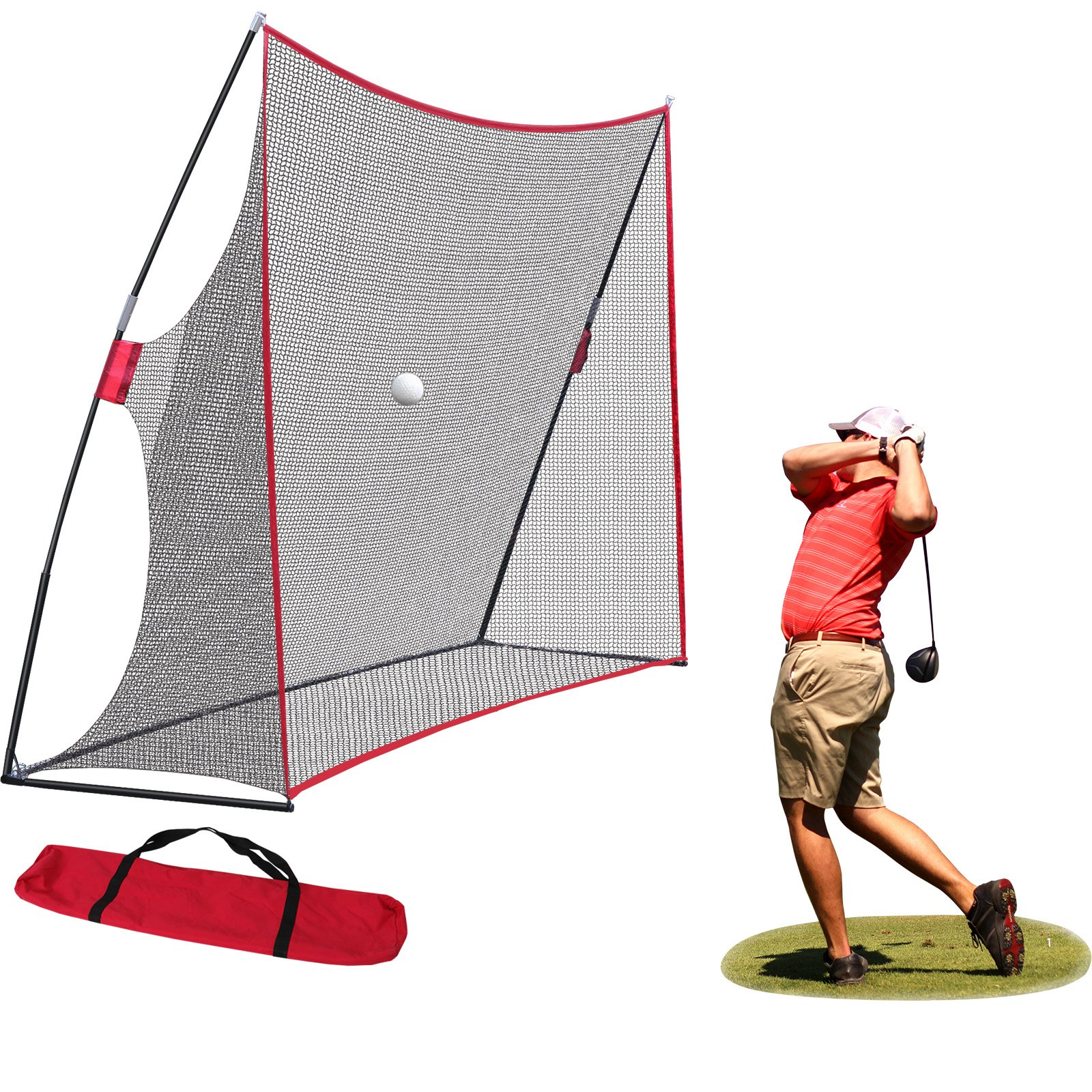 Nova Microdermabrasion Large 10x7ft Portable Golf Net Hitting Net Practice Driving Indoor Outdoor w/Carry Bag by Nova Microdermabrasion
