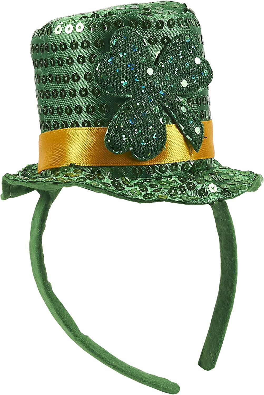 Green Patrick/'s Day Headband Leprechaun Hat 2 Pack Juvale St