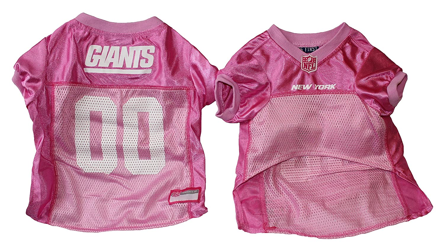 NFL Mesh Dog Jersey Size X-SMALL Giants Pink, X-Small