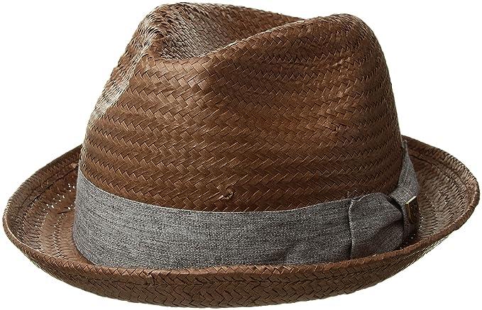 97ad094f638 Brixton Men s Castor Straw Fedora Hat  Amazon.ca  Clothing   Accessories