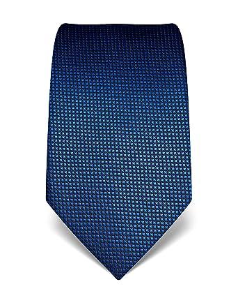 6d464192b0c3 Vincenzo Boretti Herren Krawatte reine Seide Karo Muster kariert edel  Männer-Design gebunden zum Hemd mit Anzug für Business Hochzeit 8 cm  schmal breit ...