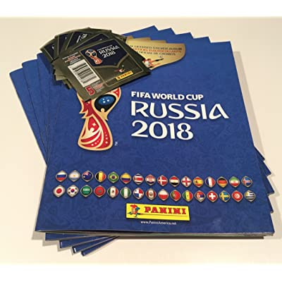 2020 FIFA World Cup Russia 1 Album Soft Cover and 5 Sticker packs(Total 25 Stickers): Kitchen & Dining