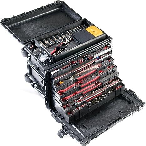 Pelican 0450 caso con cajones y bandeja superior. Crea tu propio cajón configuración.: Amazon.es: Electrónica