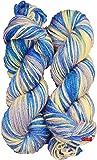 Vardhman Acrylic Crochet Art Craft Soft Fingering Hook Yarn, Needle Knitting Yarn Thread Dyed 200 Gm (Purple)
