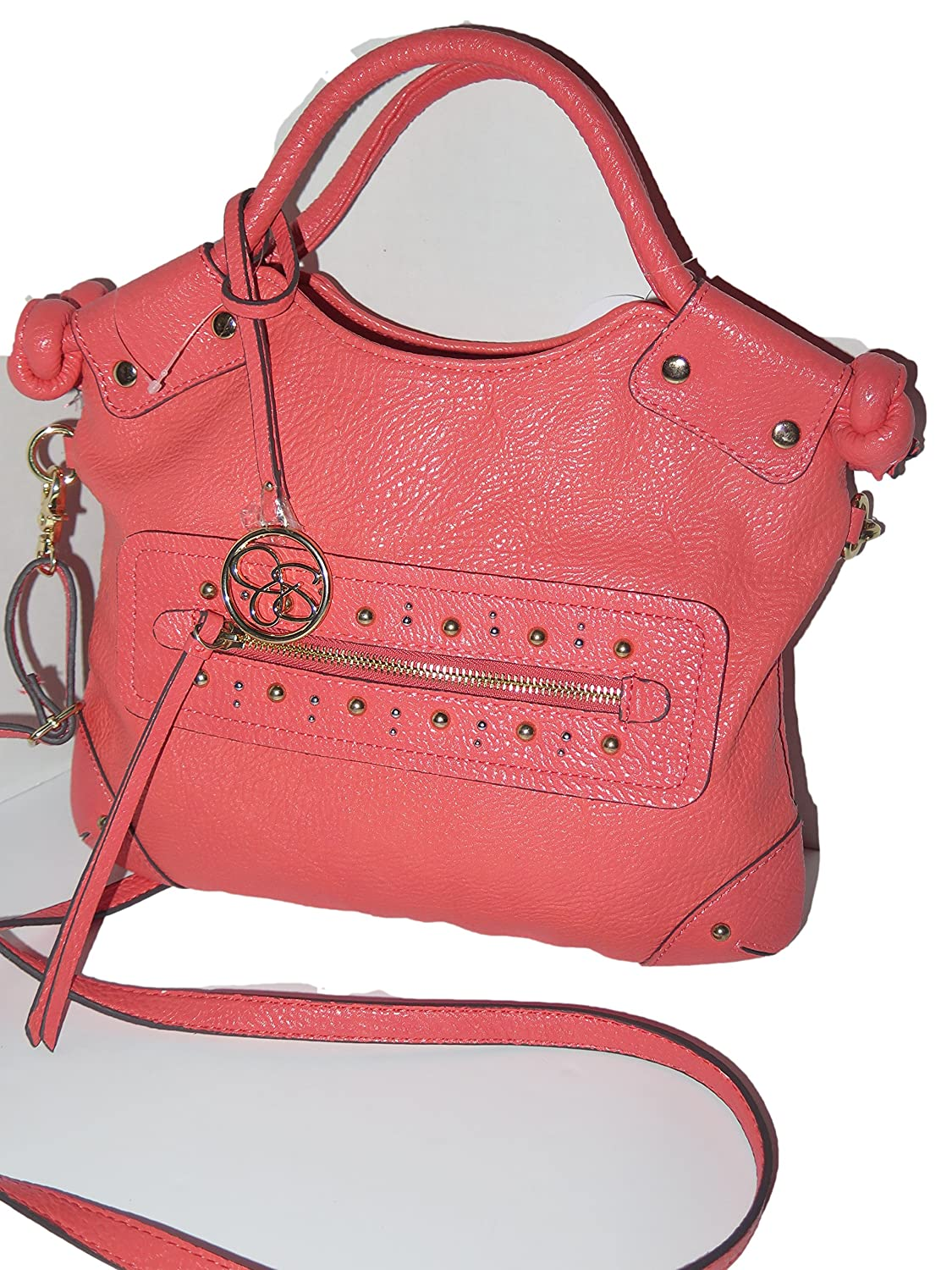 Jessica Simpson GAMELLIA Cayenne Leather Shoulder Tote Bag JS6924
