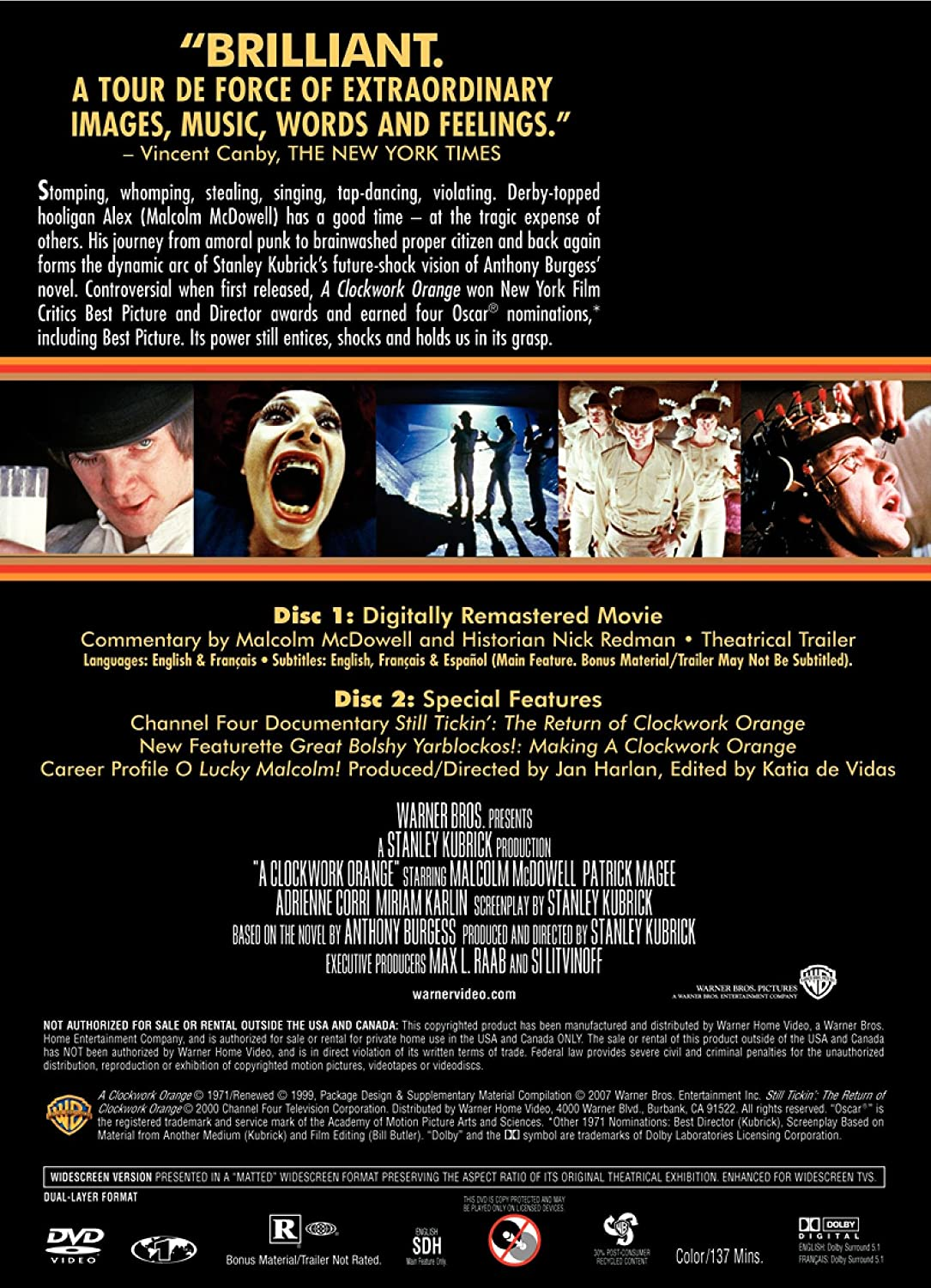 com a clockwork orange two disc special edition malcolm com a clockwork orange two disc special edition malcolm mcdowell patrick magee michael bates warren clarke john clive adrienne corri