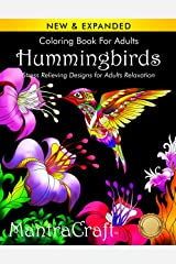 Coloring Book for Adults: Hummingbirds: Stress Relieving Designs for Adults Relaxation Paperback