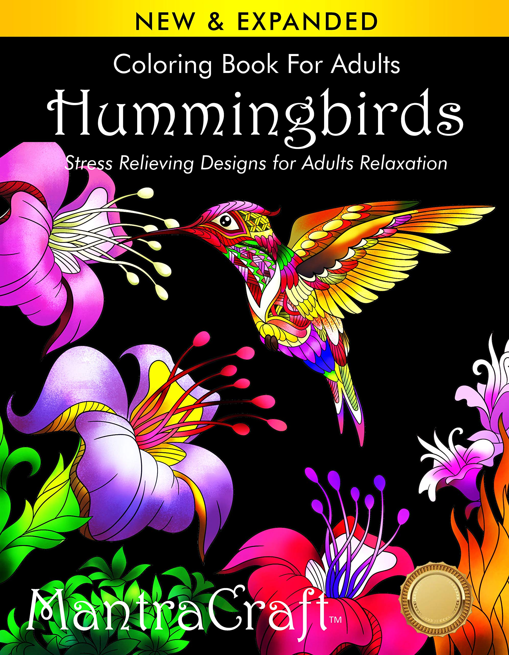 Coloring Book Adults Hummingbirds Relaxation product image