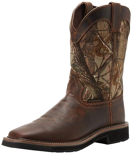 584a9bf688a9b Justin Original Work Boots Men's Stampede Camo Waterproof Work Boot:  Amazon.ca: Shoes & Handbags