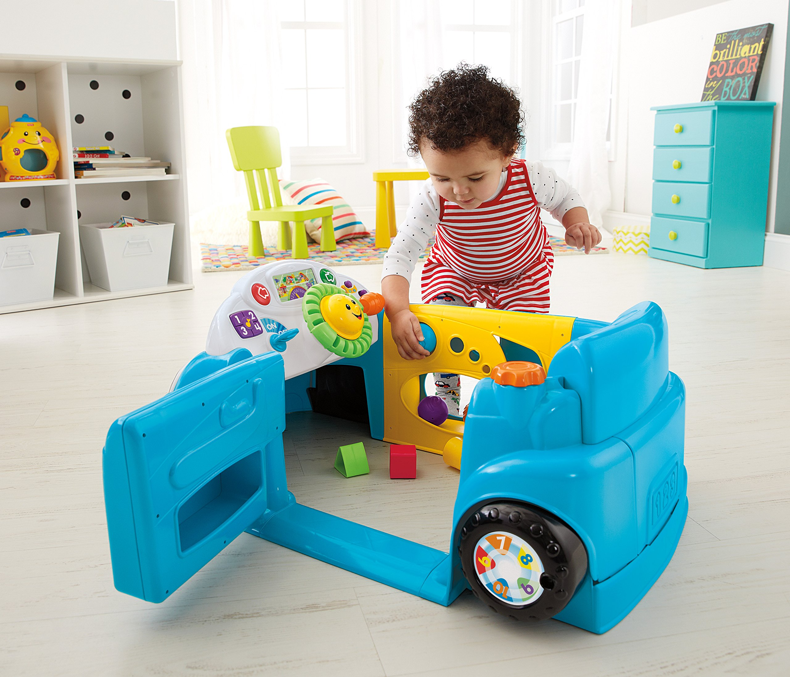 Fisher-Price Laugh & Learn Smart Stages Crawl Around Car, Blue by Fisher-Price (Image #3)