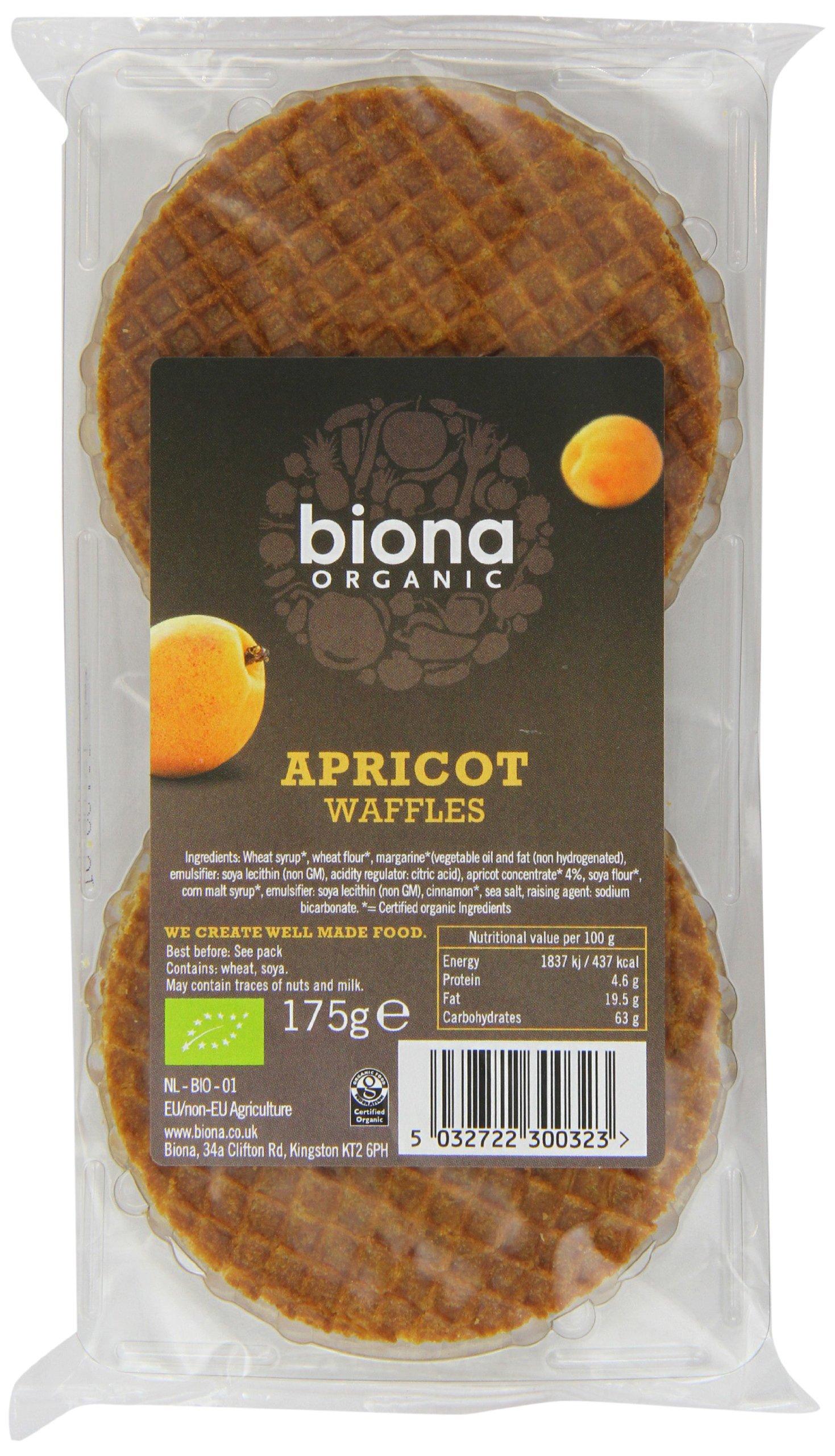Biona Organic - Waffles - Apricot - 175g (Case of 12)