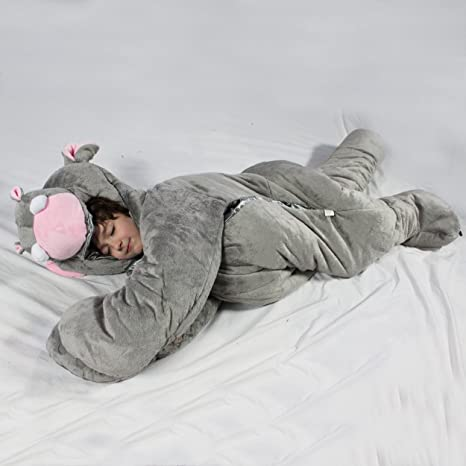 Amazon Com Snoozzoo Hippo Sleeping Bag Large Toys Games