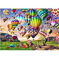 HUADADA Puzzles for Adults 1000 Piece Jigsaw Puzzles 1000 Pieces for Adults Hot Air Balloon Puzzle Educational Games…