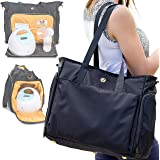 Zohzo Lauren Breast Pump Bag - Portable Tote Bag Great for Travel or Storage – Includes Padded Laptop Sleeve - Fits Most…