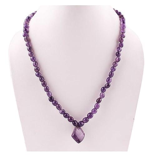 marchi riconosciuti online qui presa di fabbrica Neerupam Collection Collana di perle di pietra naturale ...