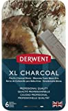 Derwent XL Tinted Charcoal Drawing Blocks, Set of 6, Professional Quality, 2302009, Multicolor