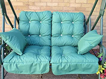cushion set for 2 seater swing hammock  dark green lb cushion set for 2 seater swing hammock  dark green lb  amazon co      rh   amazon co uk
