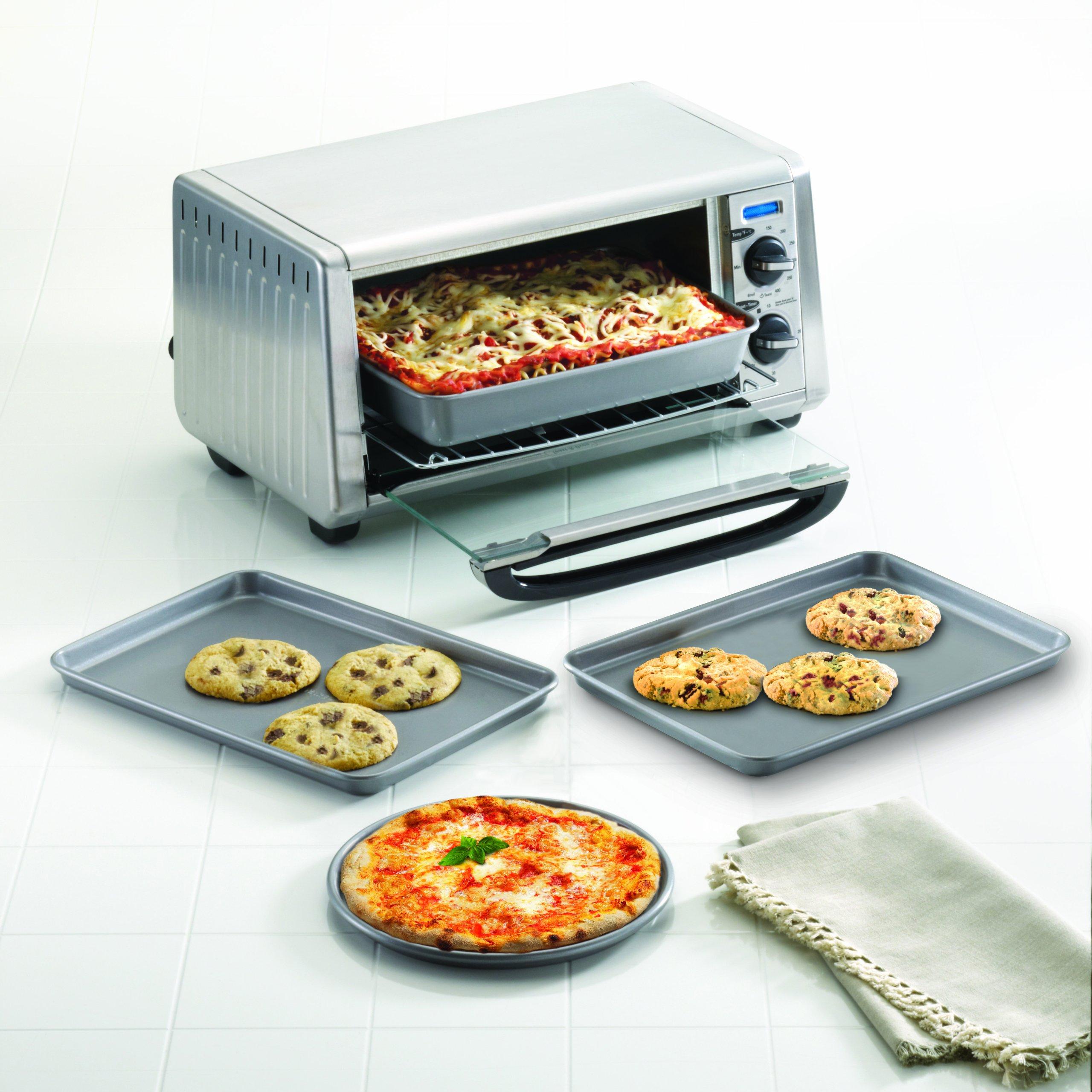 Farberware Nonstick Bakeware 4-Piece Toaster Oven Set, Gray by Farberware (Image #4)