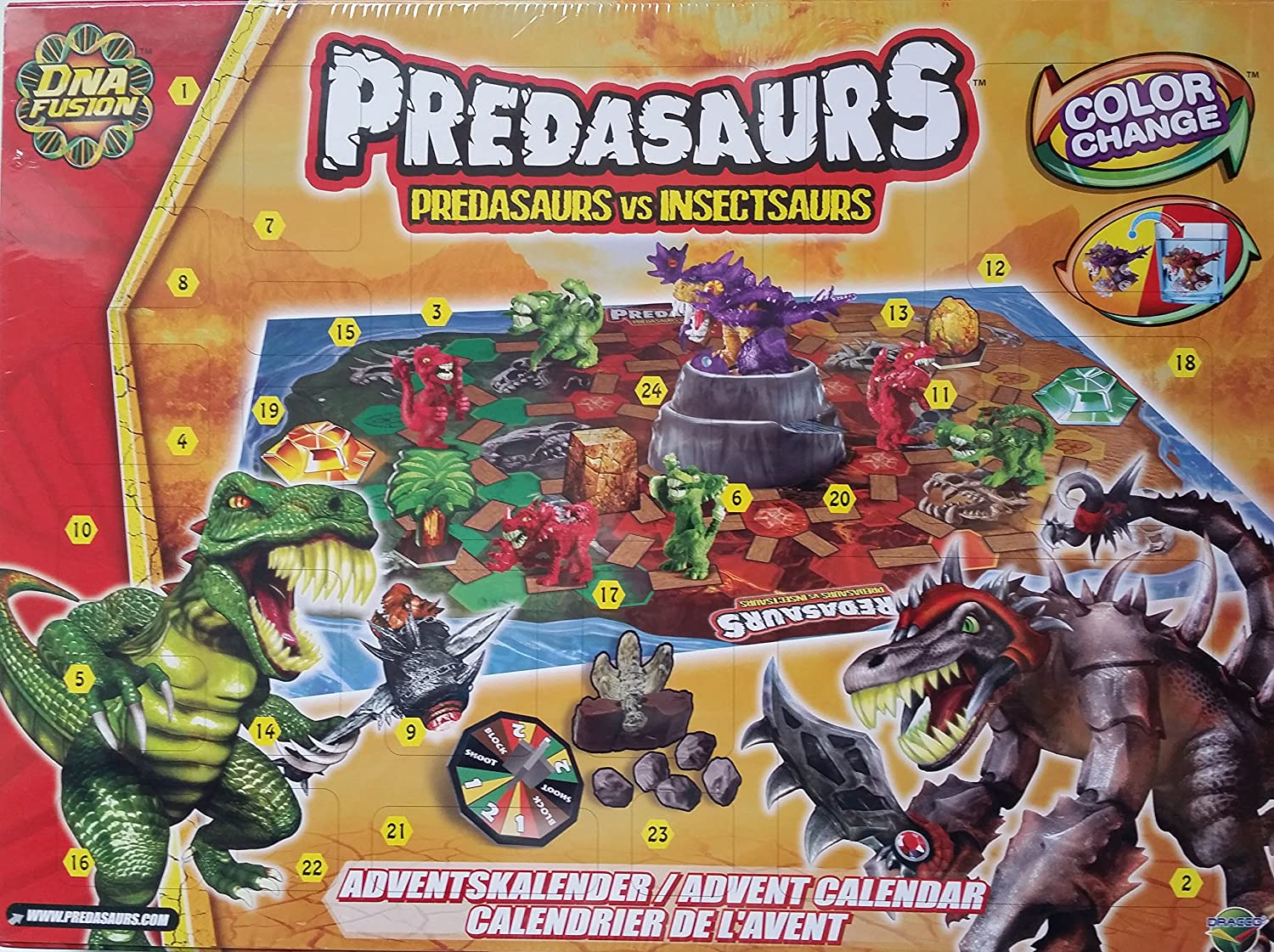 Dracco Advent Calendar Predas Dinosaurs Dinosaur Dinos Colour Change