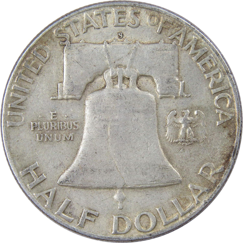 1951-S Ben Franklin Silver Half Dollar Average Circulated Condition Great Price