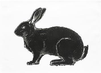 El Negro Conejo - grande de algodón toalla de té por la mitad de un burro: Amazon.es: Hogar