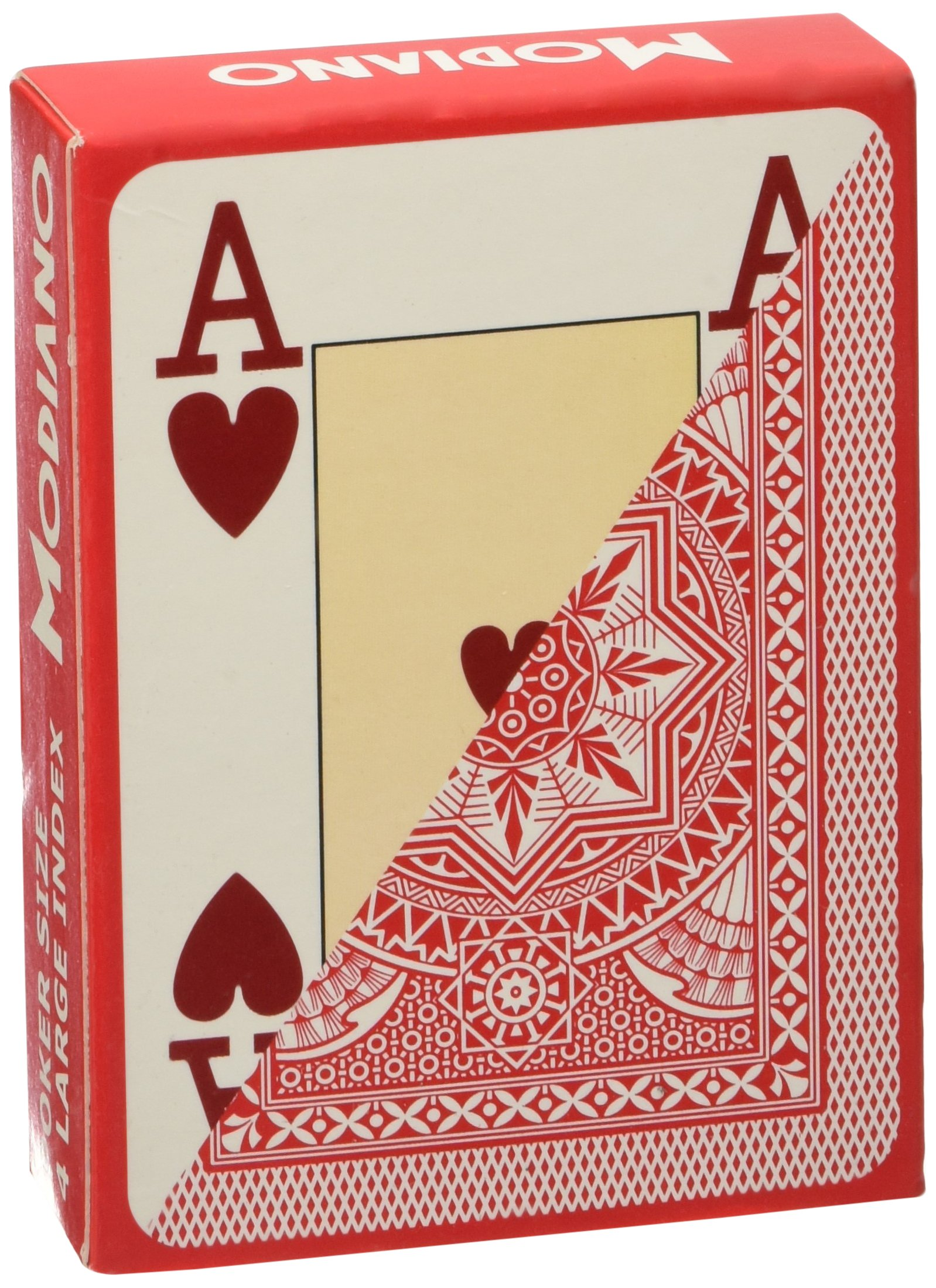 Modiano Italian Poker Game Playing Cards - RED Poker - Large 4 Index - Single Card Deck - 100% Plastic Made in Italy by Modiano (Image #2)