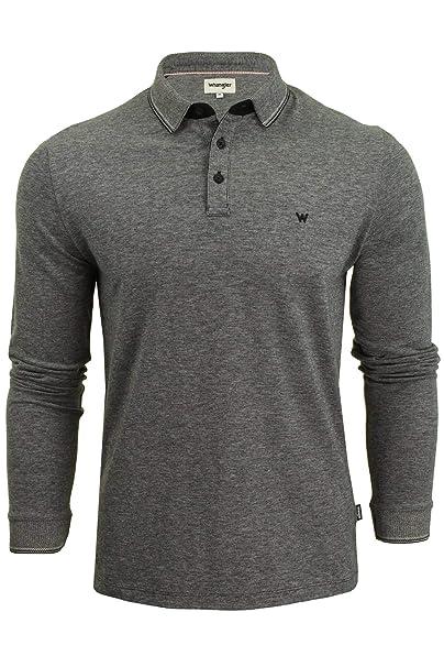 Wrangler - Camicie Polo - Manica Lunga - Uomo (Real Black) L  Amazon.it   Abbigliamento 1ae7e1ba752