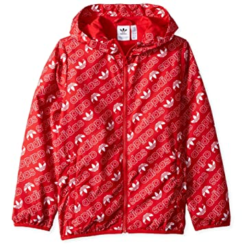 adidas Originals Boys' Trefoil Monogram Windbreaker