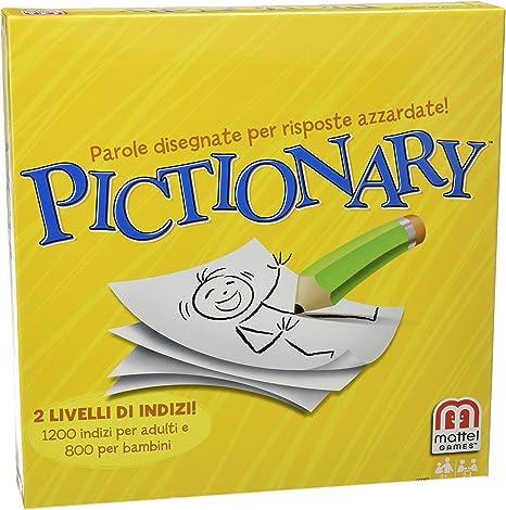 Mattel CCD82 - Pictionary, juego (versión en Italiano): Amazon.es: Hogar