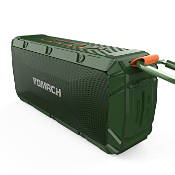 portable outdoor speakers. waterproof bluetooth speakers, vomach wireless portable speakers outdoor speaker ipx6 stereo sound green