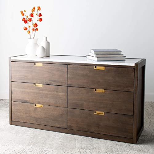 Safavieh Couture Home Adeline Modern Dark Chocolate Brown 6-drawer Dresser
