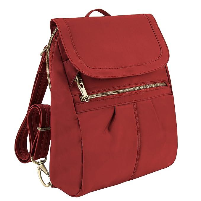 Travelon antirrobo firma delgado multifunción mochila, Cayenne (Marrón) - 43121 270: Amazon.es: Equipaje