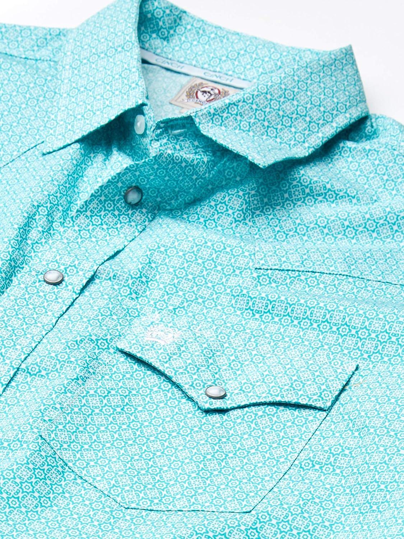 Cinch Mens Classic Fit Long Sleeve Snap Two Flap Pocket Print Shirt
