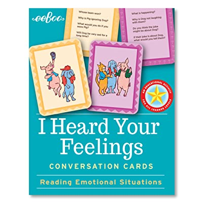eeBoo I Heard Your Feelings Conversation Flash Cards: Toys & Games
