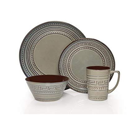 Gourmet Basics by Mikasa Athena 16 Piece Dinnerware Set (Set of 4) Assorted  sc 1 st  Amazon.com & Amazon.com | Gourmet Basics by Mikasa Athena 16 Piece Dinnerware Set ...