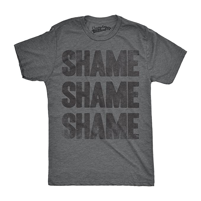 26b7cc0f19 Crazy Dog T-Shirts Mens Shame Shame Shame Funny Democratic Republican  Political T Shirt (
