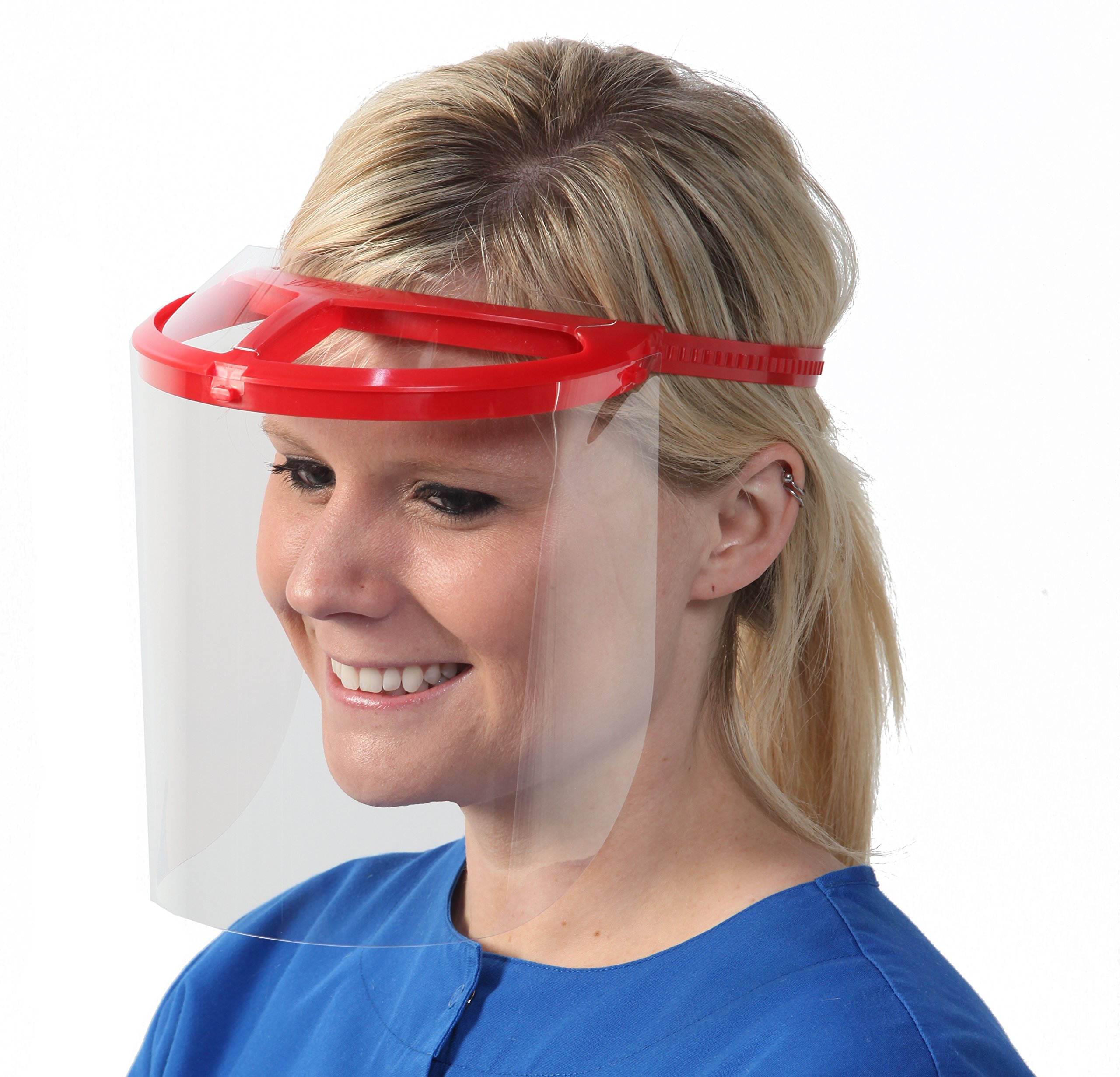 Bio-Mask Face Shield With 10 Shields (Red) by Bio-Mask (Image #2)