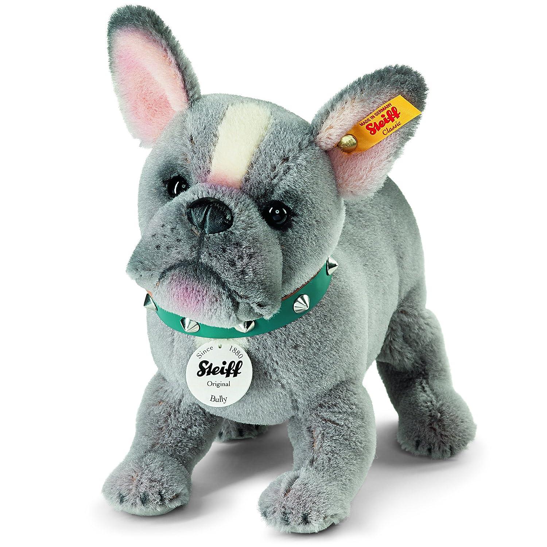 Steiff Bully Bulldog Puppy Plush Toy Grey Amazon Toys