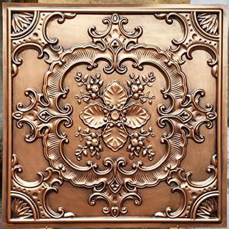 PLASTFILM Pl19 Faux Tin 3D Ceiling Tiles Antique Copper Embossing Photosgraphie Background Decoration Wall Panels 10pieces lot