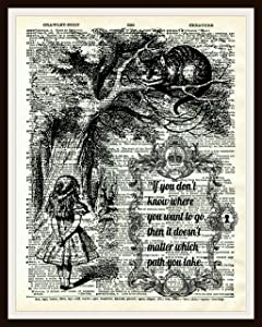 Vintage Art Print Alice in Wonderland