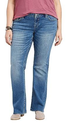 a4938fdb911 maurices Women s Plus Size Vigoss Medium Blast Thick Stitch Slim Boot Jean  14 Medium Sandblast