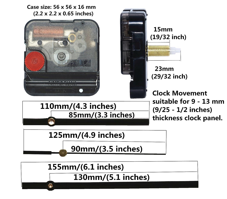 12888 Quartz DIY Wall Clock Movement Mechanism Repair Parts