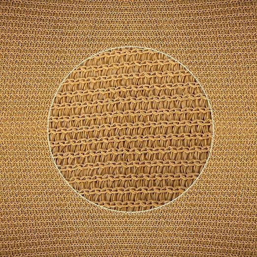 Patio Shack Toldo Vela de Sombra Rectangular 2x3m, HDPE Transpirable y protección Rayos UV para Exterior, Jardin, terrazas, Arena: Amazon.es: Jardín