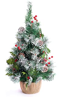 best artificial 2ft 60cm small decorated indoor christmas tree frosted