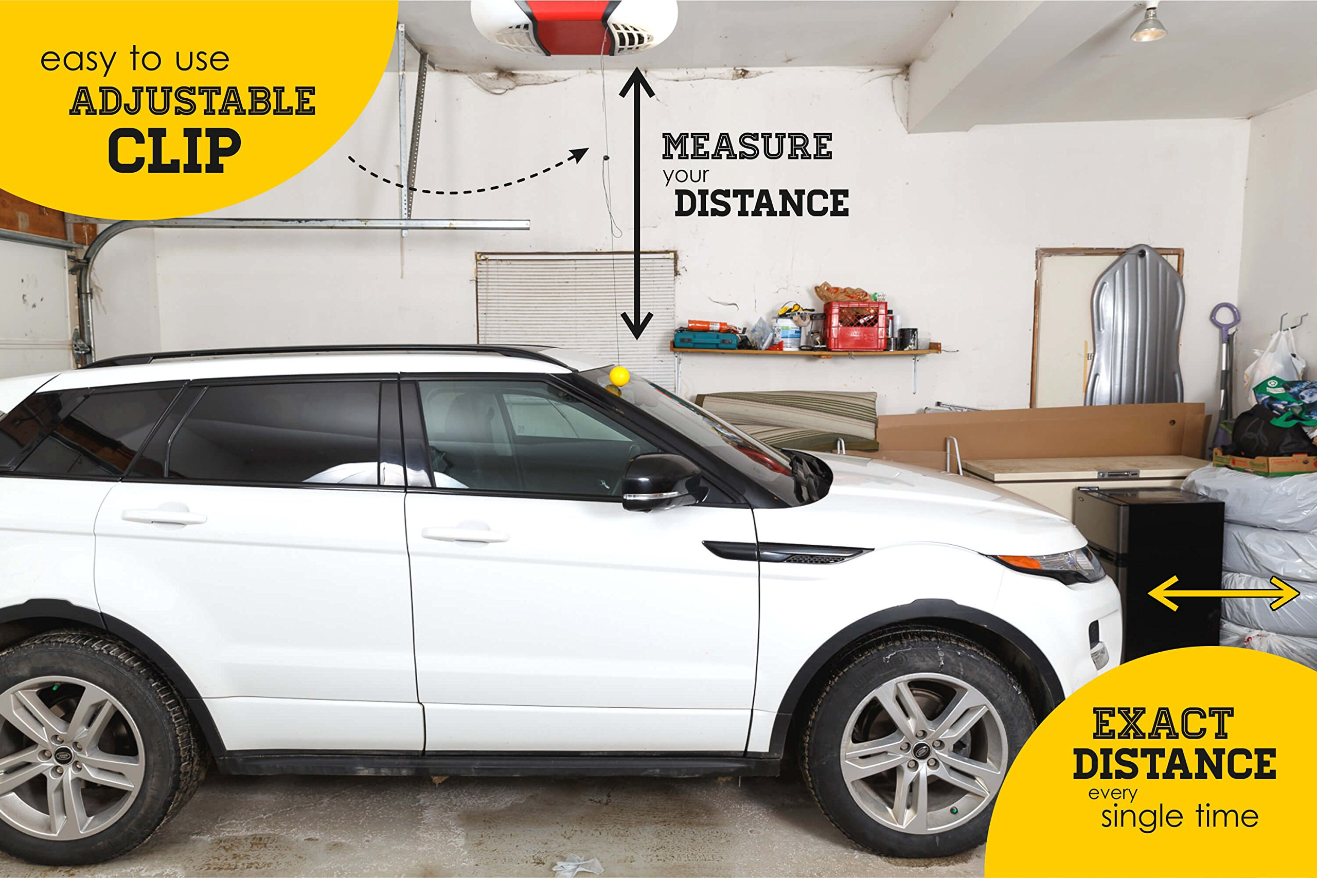Double Garage Parking Aid - Ball Guide System. Simple to install adjustable parking assistant kit includes a retracting ball sensor assist solution. Perfect Garage Car Stop Indicator for all Vehicles by LetsInnovateLife (Image #3)